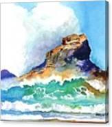 Waves Bursting On Rocks Canvas Print