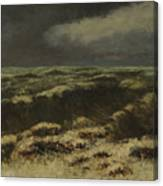 waves by Gustave Courbet Canvas Print
