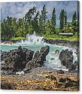 Waves Crashing Kawee Point Canvas Print