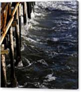Waves Hitting Santa Monica Pier Canvas Print