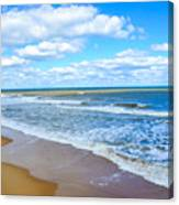 Waves Lapping On Beach 3 Canvas Print