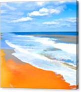 Waves Lapping On Beach 8 Canvas Print
