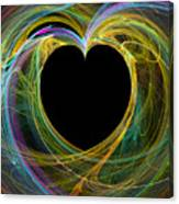 Waves Of Love - Romance Canvas Print
