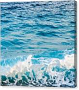 Waves Of Nice France Canvas Print