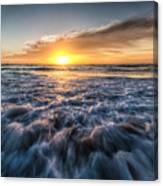 Waves Of The Sunset Canvas Print