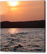 Waves On Greers Ferry Lake Canvas Print