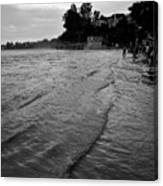 Waves On The Ganges Canvas Print