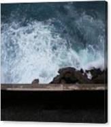 Waves On The Mediterranean Canvas Print