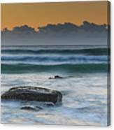 Waves Rolling In At Sunrise Canvas Print