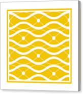 Waves With Border In Mustard Canvas Print