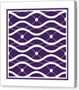 Waves With Border In Purple Canvas Print