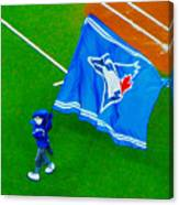 Waving The Flag For The Home Team      The Toronto Blue Jays Canvas Print