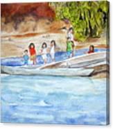 Waving To Tourist Canvas Print