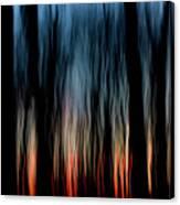 Wavy Sunset Canvas Print