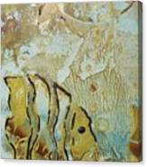 Wax Fish In Gold Canvas Print