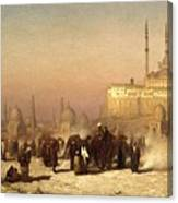 Way Between Old And New Cairo Canvas Print