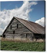 Way Of Life - Weathered Barn In Kansas Canvas Print