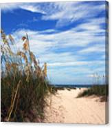 Way Out To The Beach Canvas Print