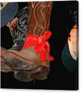 Waylon Jennings Boots Canvas Print