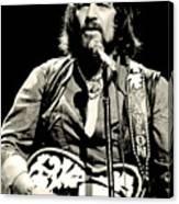 Waylon Jennings In Concert, C. 1976 Canvas Print