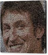 Wayne Gretzky Hockey Puck Mosaic Canvas Print