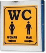 Wc Sign, Croatia Canvas Print