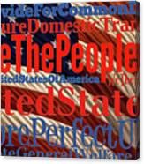 We The People Of The United States Of America Canvas Print