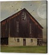 Weathered Barn And Birds Canvas Print