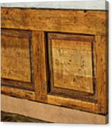 Weathered Bench - Santa Fe #2 Canvas Print