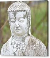 Weathered Buddha Statue Canvas Print