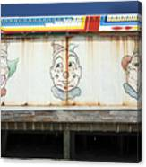 Weathered Clowns Canvas Print