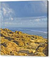 Weathered Coquina Ocean Rocks Canvas Print