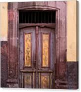 Weathered Door Canvas Print