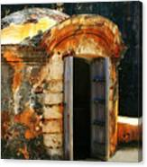 Weathered Entry Canvas Print