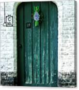 Weathered Green Door Canvas Print