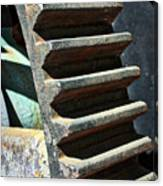 Weathered Metal Cogs Canvas Print
