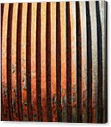 Weathered Metal With Rows Canvas Print