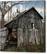Weathered Old Abandoned Barn Canvas Print