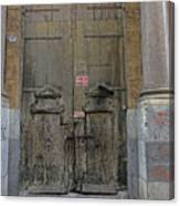 Weathered Old Door On A Building In Palermo Sicily Canvas Print