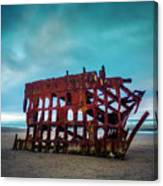Weathered Rusting Shipwreck Canvas Print