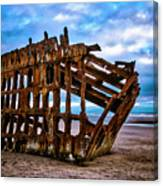 Weathered Shipwreck Canvas Print