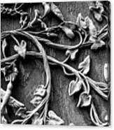 Weathered Wall Art In Black And White Canvas Print