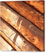 Weathered Wood Log Cabin Canvas Print