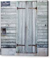 Weathered Wooden Door In France Canvas Print