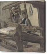 Weaver Nuenen, December 1883 - August 1884 Vincent Van Gogh 1853 - 1890 3 Canvas Print
