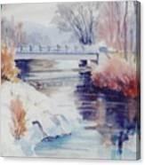 Weber River Bridge Canvas Print