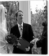Wedding Couple Example Canvas Print