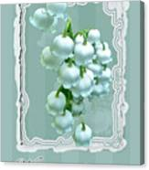 Wedding Happiness Greeting Card - Lily Of The Valley Flowers Canvas Print