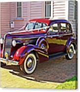 Wedding Limousine Canvas Print