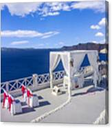 Wedding On The Greek Isles Canvas Print